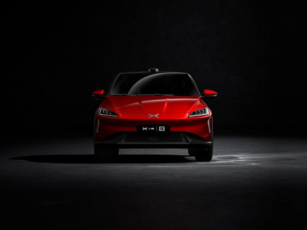 Bilde av rød elbil